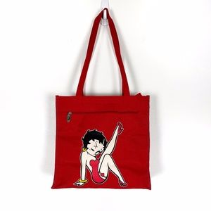 Red Betty Boop Tote Bag